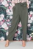 Pants, military green