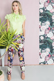 Pants, Violet Blue & flowers