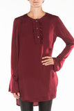 Wine red tunics blouse