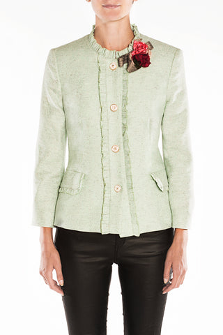 Light green jacquard jacket