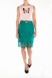 Skirt emerald green