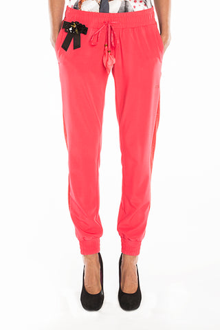 Pants - Coral red