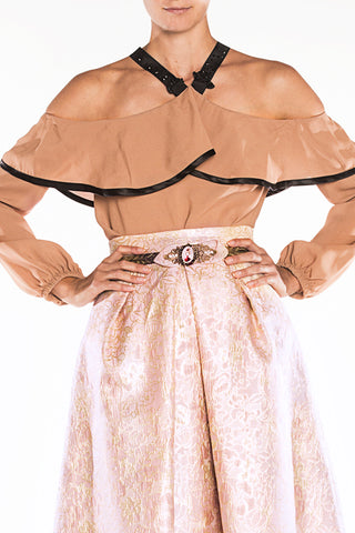 Blouse long brown
