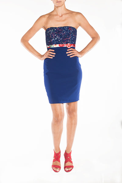 Dress - electric blue