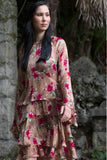 Silk flower dress