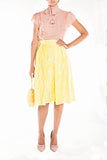 Jacquard midi skirt Yellow