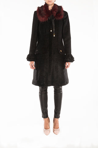 'Black Glam' wool coat