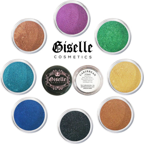 Eye Shadow - Mineral Makeup Eyeshadow Powder, Foundation, Concealer, Blush, and Contouring Palette | Pure, Non-Diluted Shimmer Mineral Make Up in 8 Caribbean Hues and Shades | For All Skin