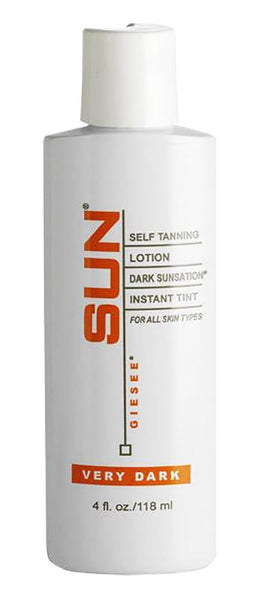 Self Tan Lotion 118ml Very Dark - Self Tanner - Natural Sunless Tanning Lotion, Body and Face for Bronzing and Golden Tan - Very Dark Sunless Bronzer Flawless Fake Tanning Gel Lotion For Men and Women