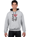 """I Heart Jesuits"" Contrast Hoodie - JesuitSwag"