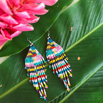 Beaded Earrings ~ Arco Iris