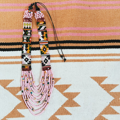 Huipil Necklace Blush