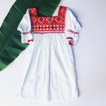 Niña Huipil Dress Red
