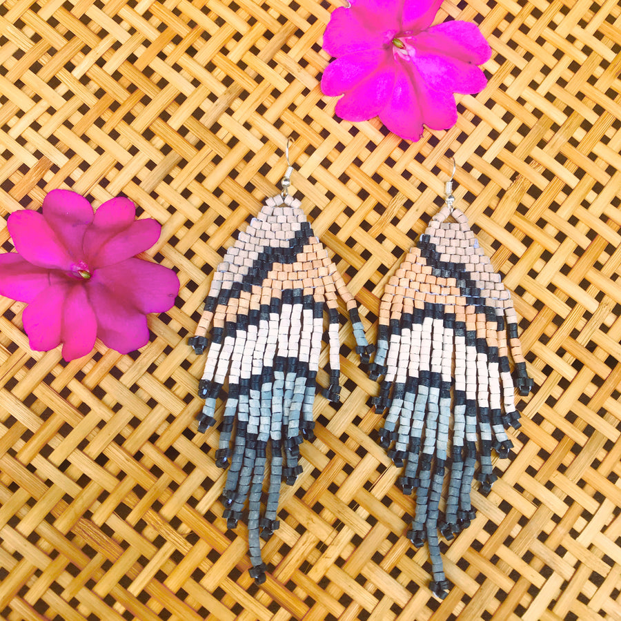Beaded Earrings ~ Tones