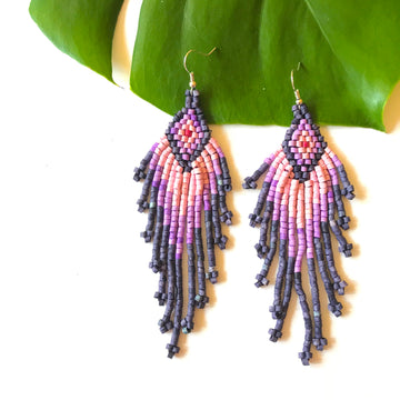 Beaded Earrings ~ Mariposa