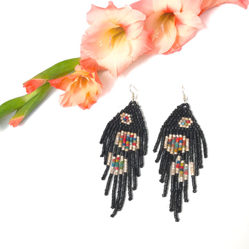 Beaded Earrings ~ La Noche