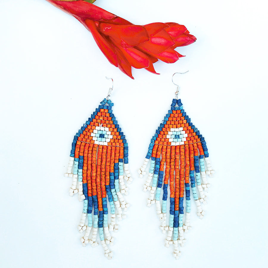 Beaded Earrings ~ Eye