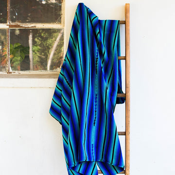 Serape Blanket Blue Multi