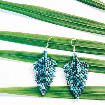 Beaded Earrings ~ Blue Multi