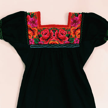 Niña Huipil Bib Dress Rosa