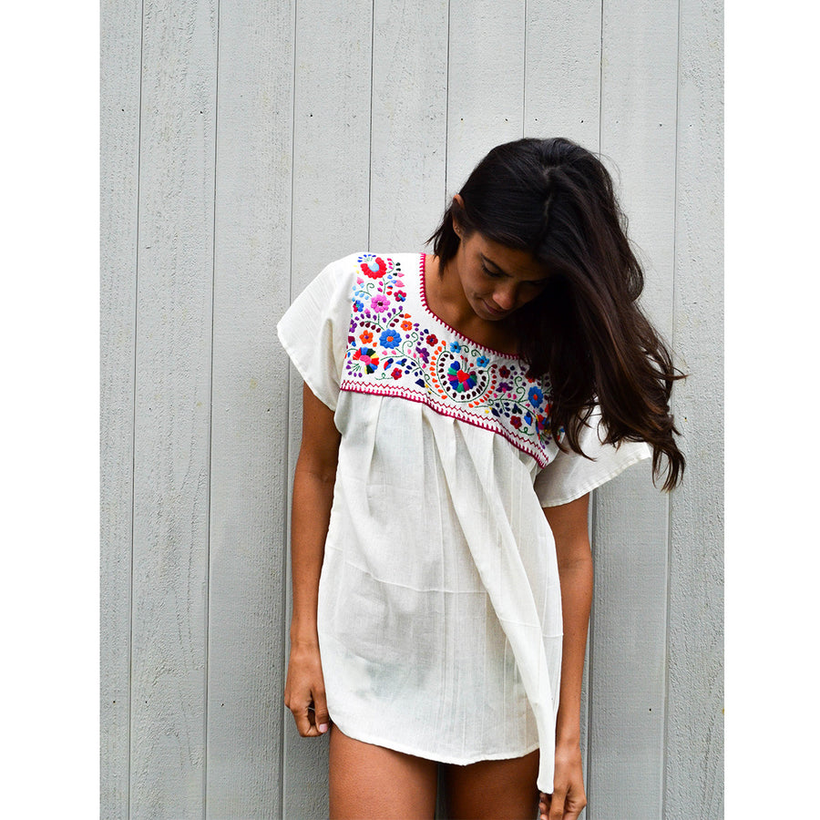 La Flor Blouse Natural