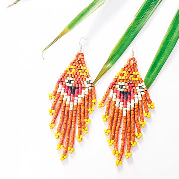 Beaded Earrings ~ Flores