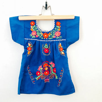Kids La Flor Dress ~ Blue Size 1
