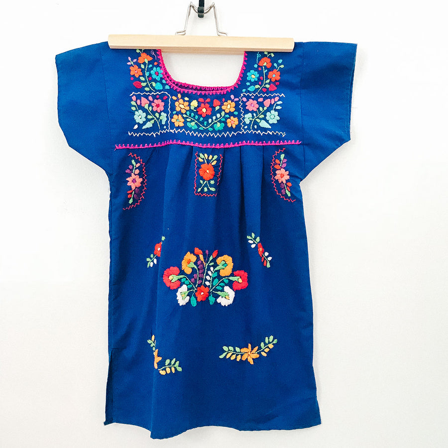 Kids La Flor Dress ~ Blue Size 4