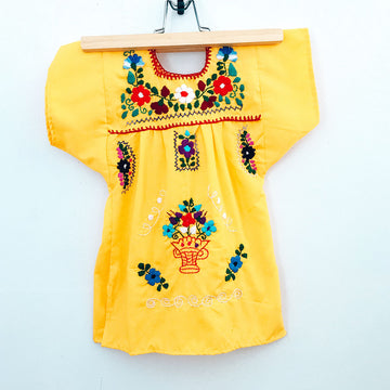 Kids La Flor Dress ~ Marigold Size 2