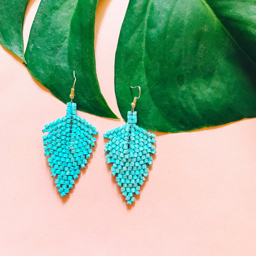 Beaded Earrings ~ Sky