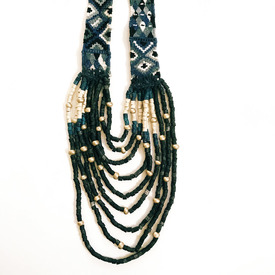Huipil Necklace Metallic