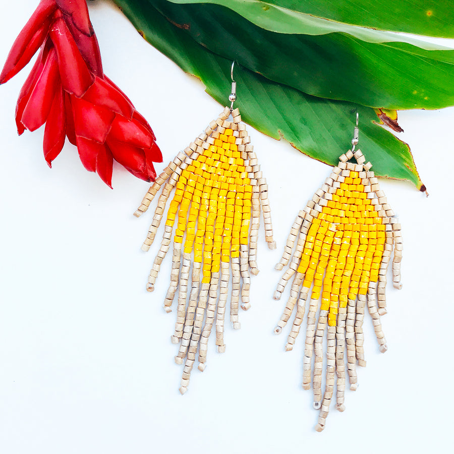 Beaded Earrings ~ Soleil