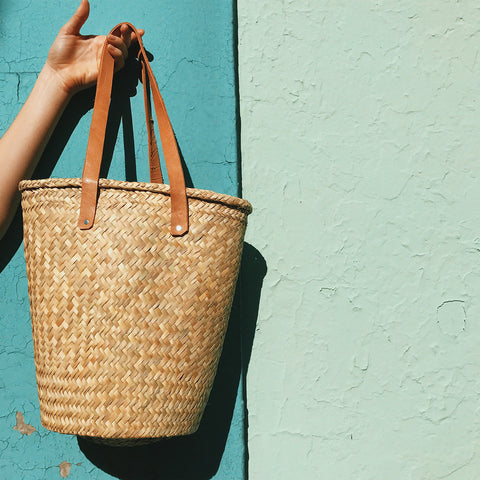 Palm Bag with Leather Handles - Large