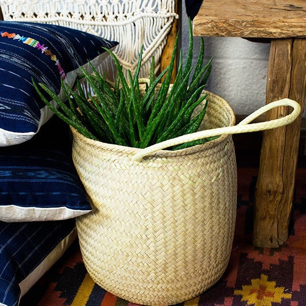 Palm Basket with Handles
