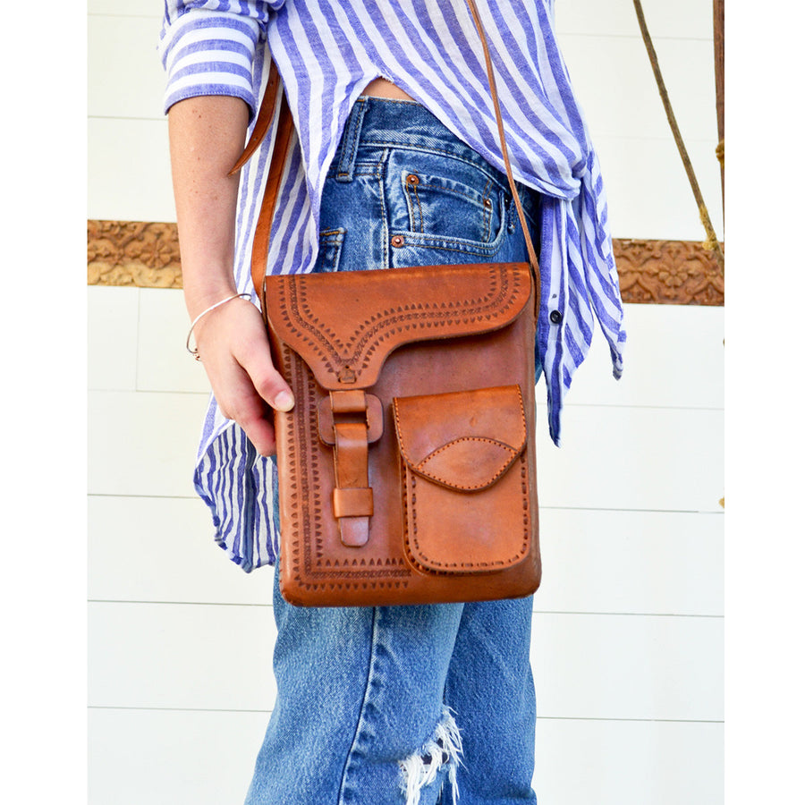 Paper Boy Leather Bag Long