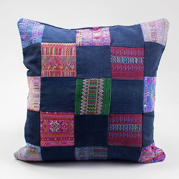 Huipil Patchwork Pillow