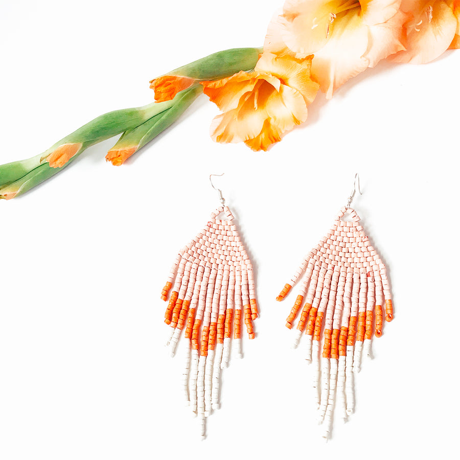 Beaded Earrings ~ Sherbert