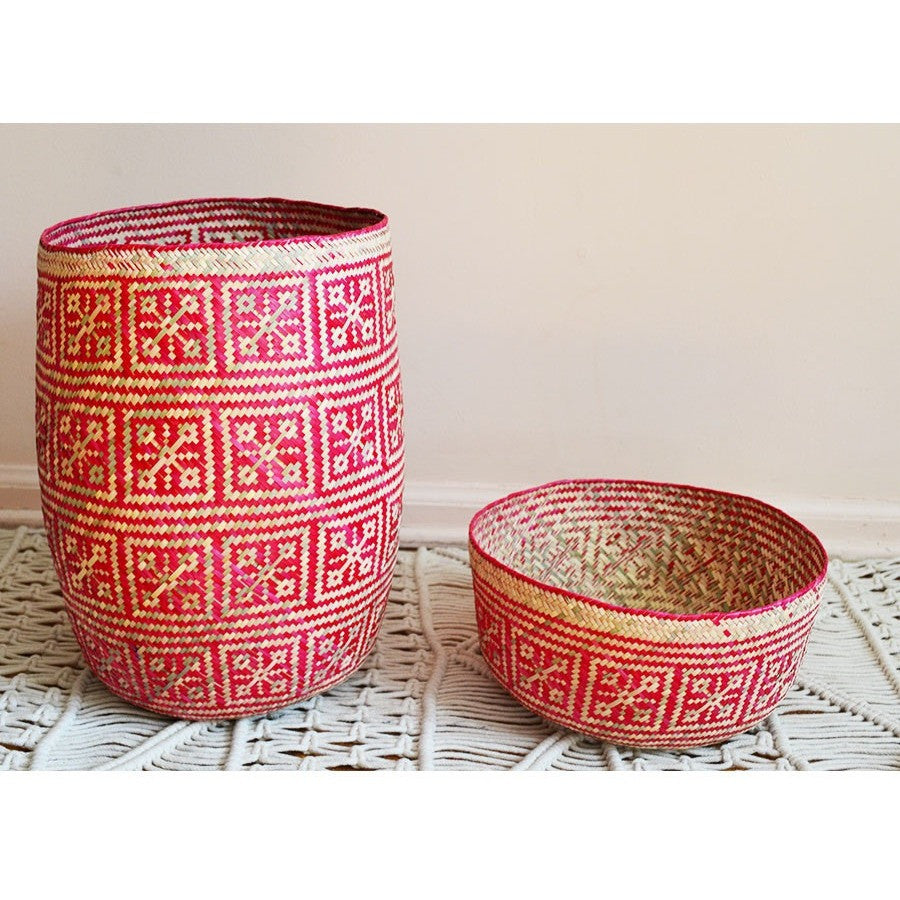Oaxaca Casa Basket - Pink Natural