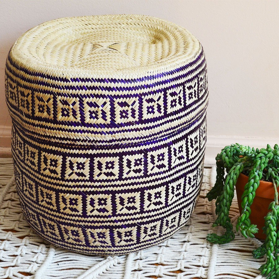 Oaxaca Gordita Basket - Purple