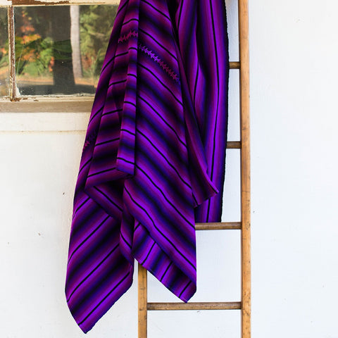 Sunzal Serape Blanket Purple