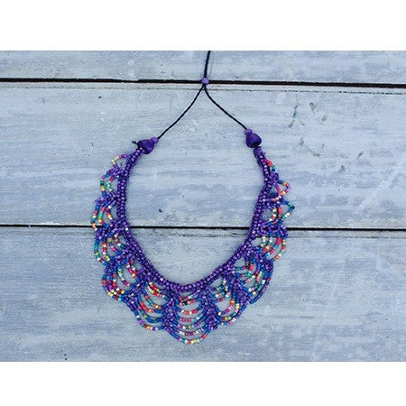 Scallop Necklace Purple