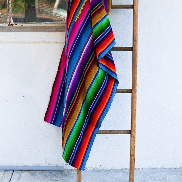Sunzal Serape Blanket Rainbow Assorted