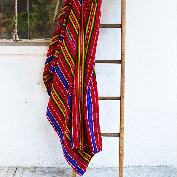 Sunzal Serape Blanket Red Multi