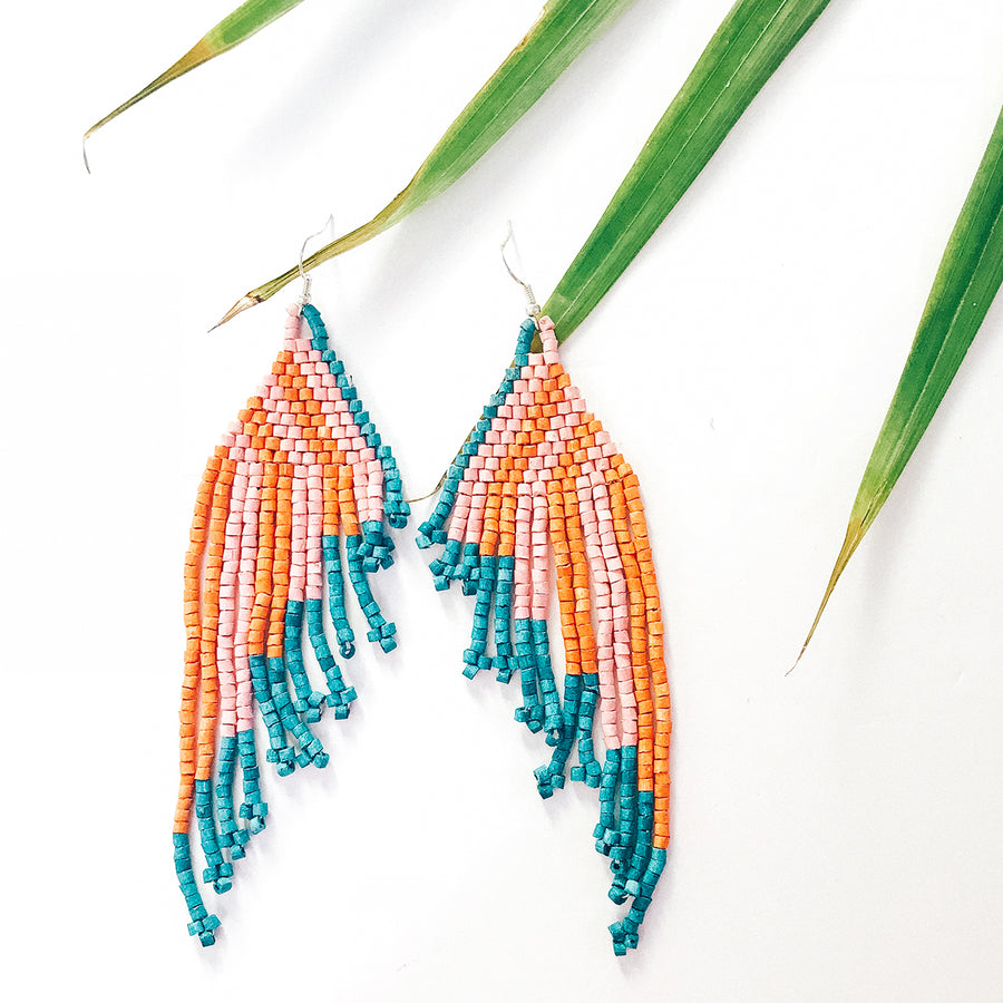 Beaded Earrings ~ Sorbet