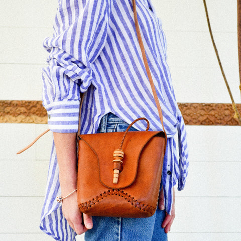 Leather Toggle Crossbody