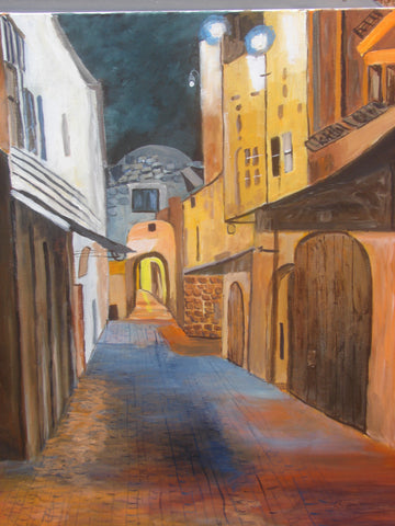 Jerusalem at Night: Martin Potashner Jewish Fine Art