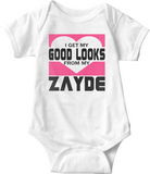 Jewish Fashion Onesie—I Get My Good Looks From Zayde
