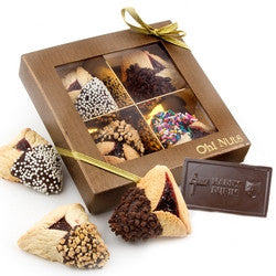 Hand Dipped Hamantaschen & Chocolate Card Shalach Manos (FREE SHIPPING)