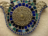 Mosaic Hamsa Celebrating the Blues