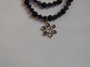 Amethyst Double Wrap Star of David Bracelet